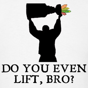Do You Even Lift, Bro? Chicago Hockey T-Shirts - Men's T-Shirt