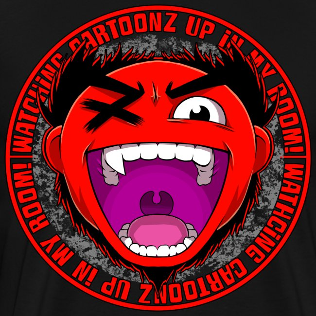 "Premium Men's ""Watching CaRtOoNz"" Tee"