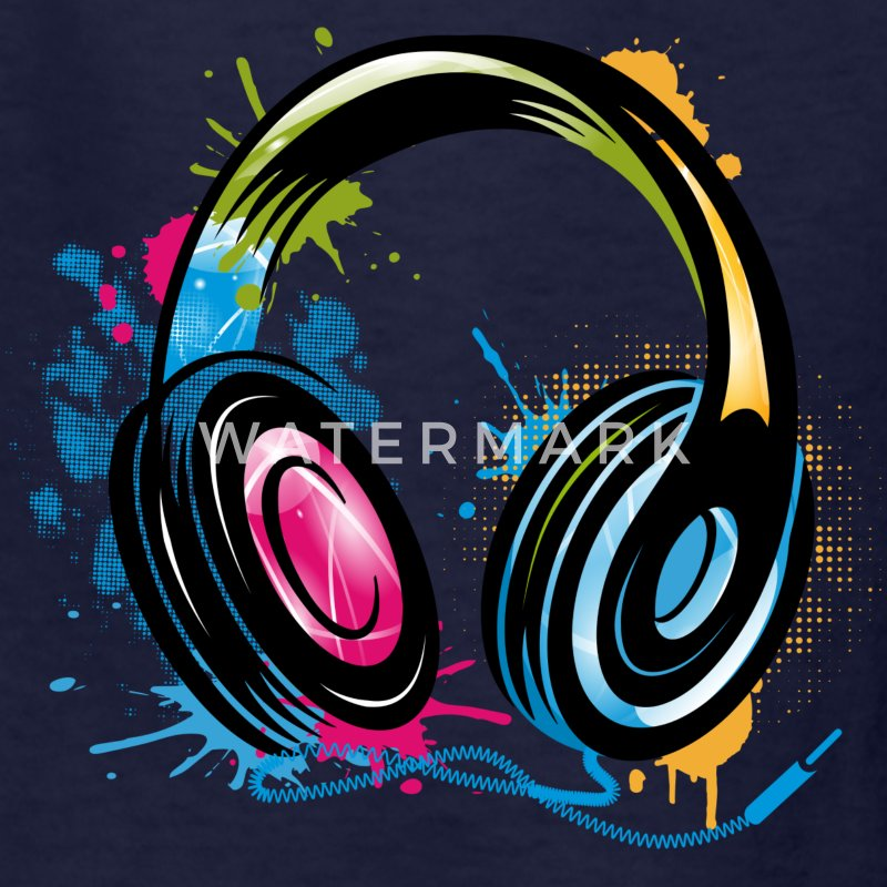 stylish Graffiti Headphones Kids' Shirts - Kids' T-Shirt