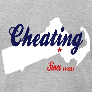 Cheating Since 1620 Deflategate T-Shirts - Men's T-Shirt by American Apparel