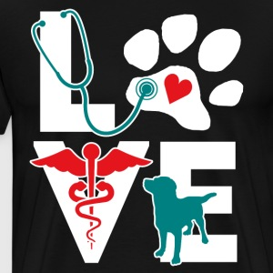 LOVE teal T-Shirts - Men's Premium T-Shirt