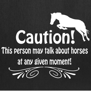 Caution! Talk about horses Bags & backpacks - Tote Bag