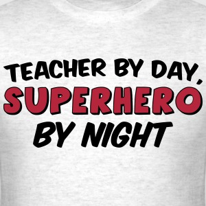 Teacher and Superhero Mens red - Men's T-Shirt