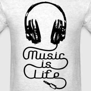 Music Is Life Headphones T-Shirts - Men's T-Shirt