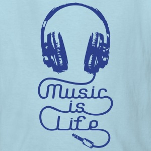 Music Is Life Headphones Kids' Shirts - Kids' T-Shirt