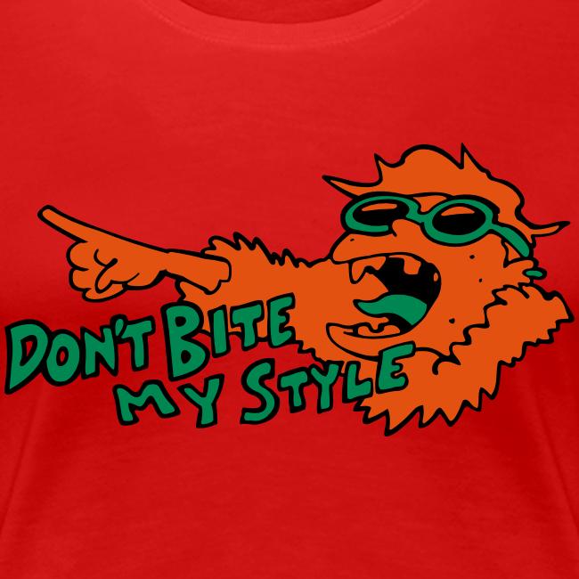 Don't Bite My Style - Fuzzy - Orange - Ladies