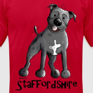 Happy Staffordshire Bull Terrier T-Shirts - Men's T-Shirt by American Apparel