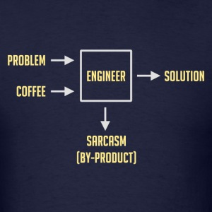 Engineering Sarcasm By-product T-Shirts - Men's T-Shirt