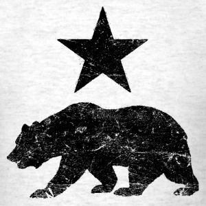 California Republic distressed Bear and Star shirt - Men's T-Shirt