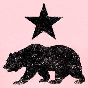 California Republic distressed Bear Ladies Shirt - Women's T-Shirt