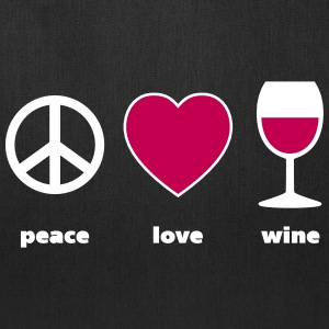 Peace Love Wine text Bags & backpacks - Tote Bag