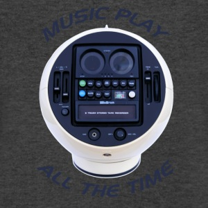Music Play All The Time - Men's V-Neck T-Shirt by Canvas