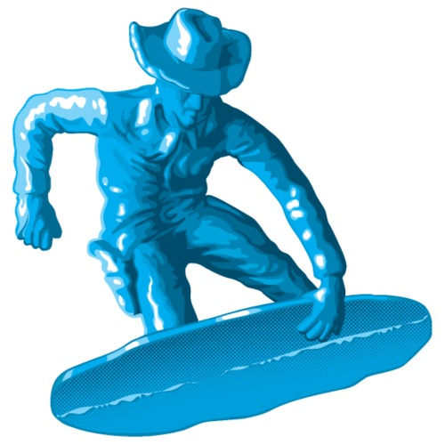 Blue snowboarding toy