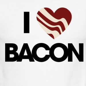 I love BACON - Men's Ringer T-Shirt
