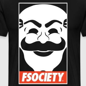 fsociety obey style T-Shirts - Men's Premium T-Shirt