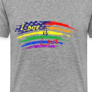 usa_love_is_love T-Shirts - Men's Premium T-Shirt