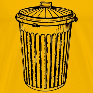 trash can - Men's Premium T-Shirt