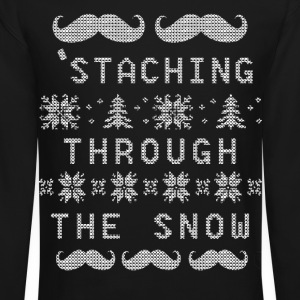 Staching Through The Snow Long Sleeve Shirts - Crewneck Sweatshirt