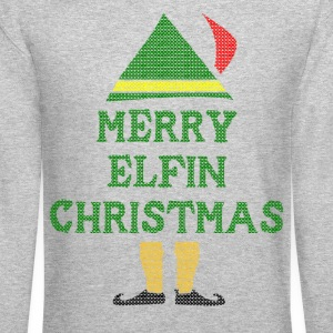 Merry Elfin Christmas Long Sleeve Shirts - Crewneck Sweatshirt