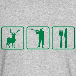 HUNTING FOR FOOD Long Sleeve Shirts - Men's Long Sleeve T-Shirt