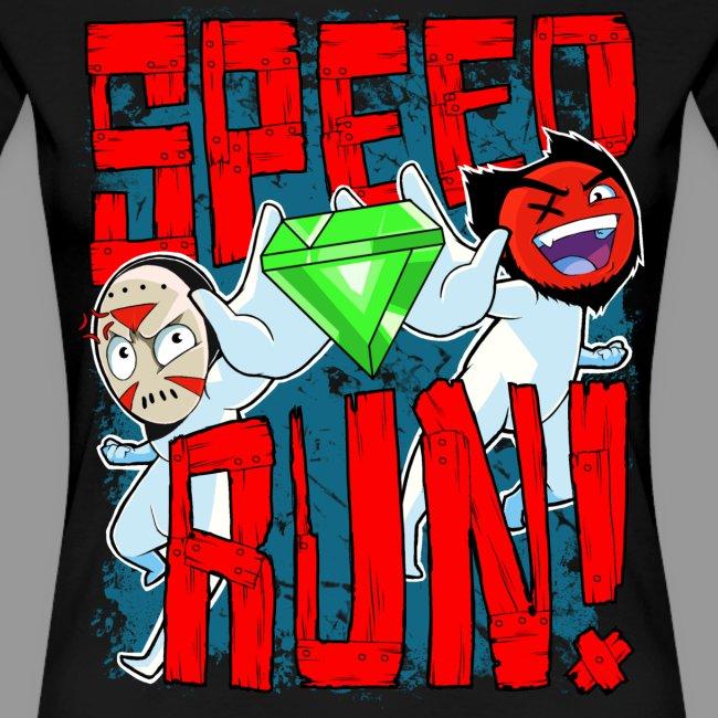 """Premium Women's """"Speed Run!"""" Tee"""
