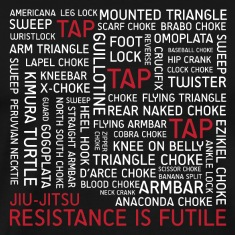 Jiu-Jitsu Resistance is Futile - White Text
