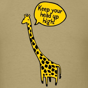 Keep Your Head up High! Giraffe T-Shirts - Men's T-Shirt
