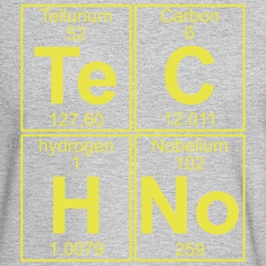 TECHNO PERIODIC TABLE Long Sleeve Shirts - Men's Long Sleeve T-Shirt