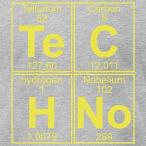 TECHNO PERIODIC TABLE T-Shirts - Men's T-Shirt by American Apparel