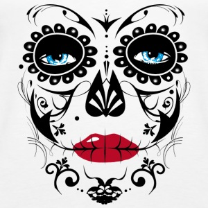 Sugar Skull Makeup Tanks - Women's Premium Tank Top