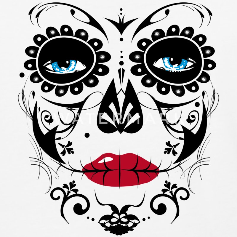 Sugar Skull Makeup T-Shirts - Baseball T-Shirt