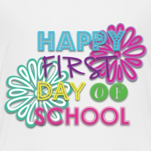 Girls Happy 1st Day of School Shirt - Kids' Premium T-Shirt