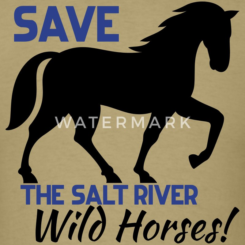 Save the Salt River Wild Horses - Men's T-Shirt
