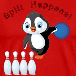 Bowling Penguin - Men's Premium T-Shirt