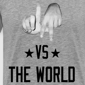 Los Angeles California vs The World (Realistic T-Shirts - Men's Premium T-Shirt
