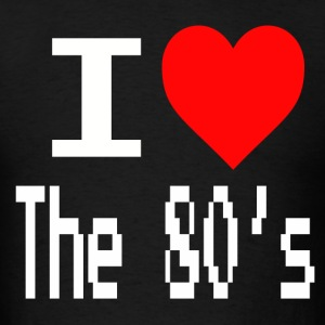 I love the 80s tees white text - Men's T-Shirt