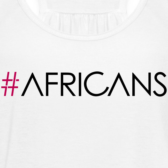 #AFRICANS White Flowy Tank