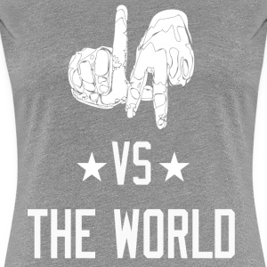 Los Angeles California vs The World (4Grey) Women's T-Shirts - Women's Premium T-Shirt