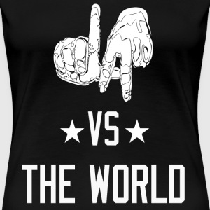 Los Angeles California vs The World (White) Women's T-Shirts - Women's Premium T-Shirt