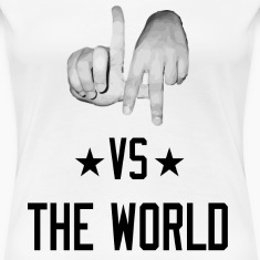 Los Angeles California vs The World (Realistic Women's T-Shirts