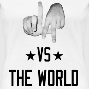 Los Angeles California vs The World (Realistic Women's T-Shirts - Women's Premium T-Shirt