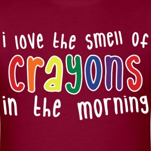 Crayons mens dark - Men's T-Shirt