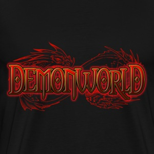 Demonworld Horizontal SnakeDragon - Men's Premium T-Shirt