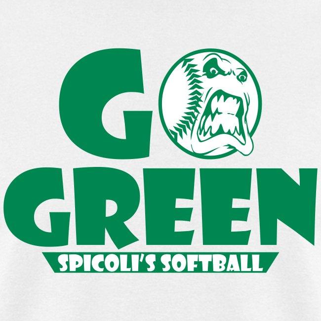 Spicoli's Softball Go Green Mens (White)