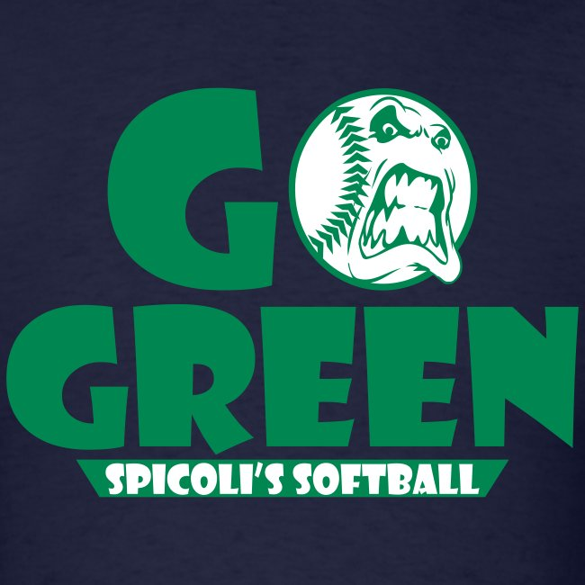 Spicoli's Softball Go Green Mens Tee (Navy)