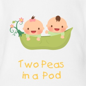 Cute Peas in a Pod Twins Baby & Toddler Shirts - Short Sleeve Baby Bodysuit