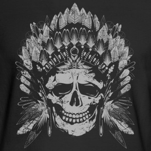 Chief Skull Gray Long Sleeve Shirts - Men's Long Sleeve T-Shirt