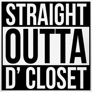 straight outta d closet T-Shirts - Men's T-Shirt