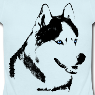 Design ~ Baby Husky Creeper Toddler Husky Malamute Bodysuit