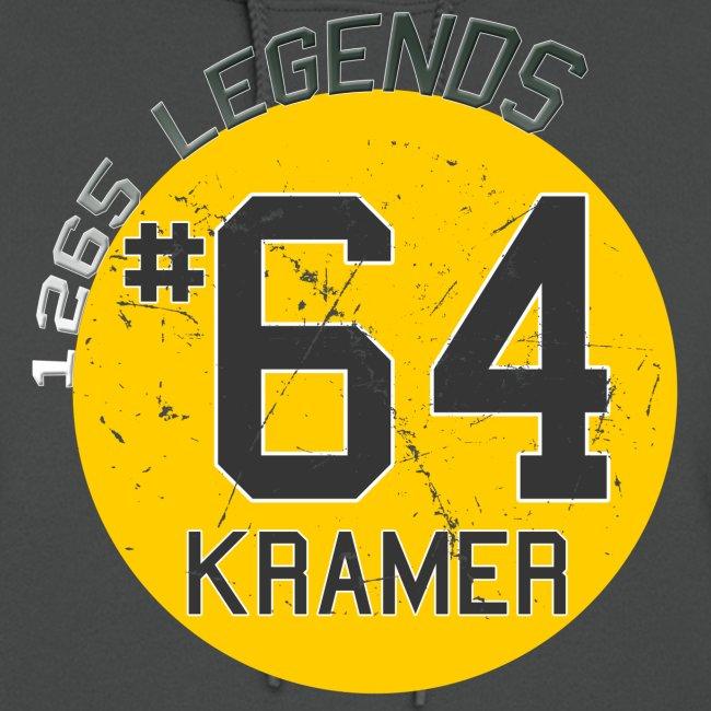 1265 Legends #64 Jerry Kramer Ladies Hoodie